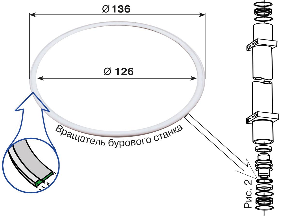 Кольца для Atlas Copco D-262 (фторпласт)