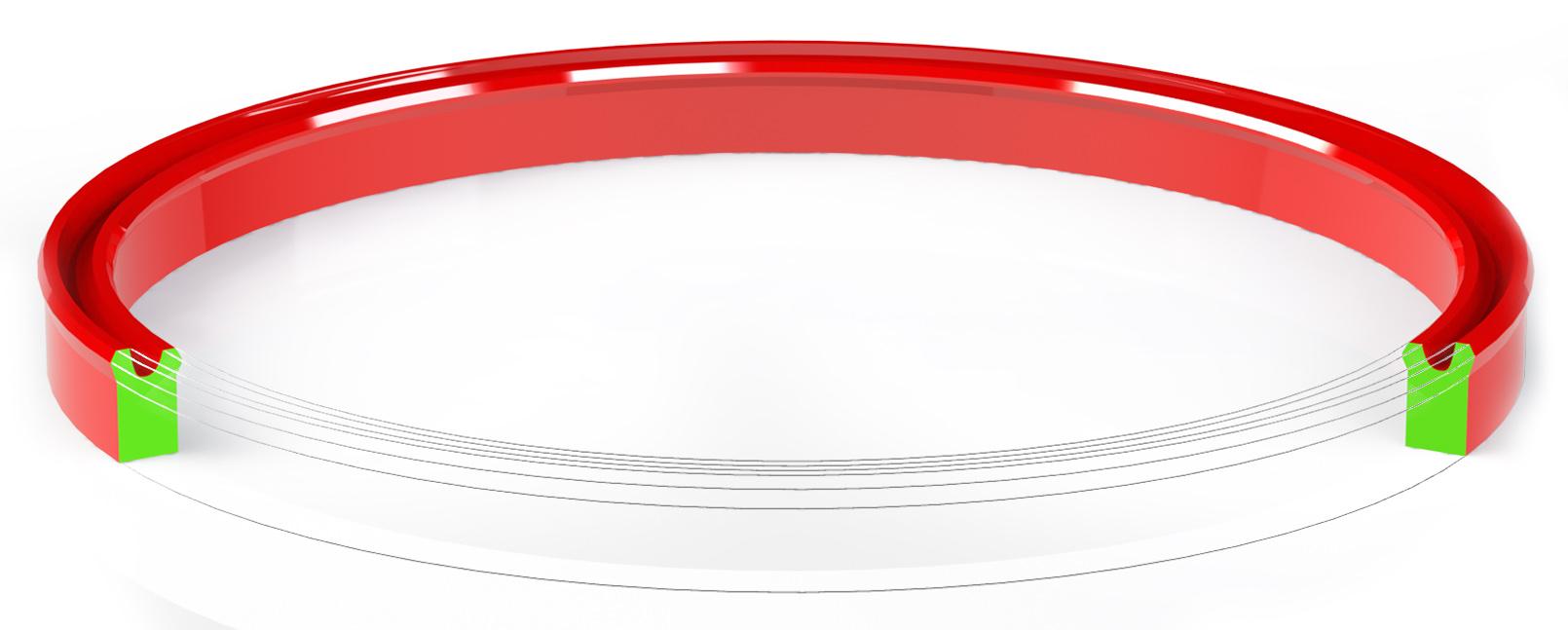 Манжета гидравлическая уплотнительная полиуретановая (по типу TTI)  180*200-15