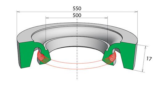 Манжета резиновая бескаркасная  НР-500х550х17